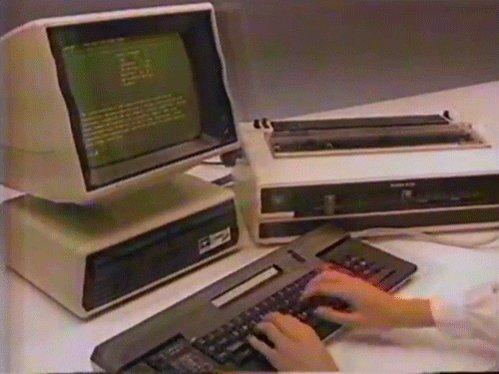 dos old computer GIF