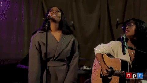 Watch @HERMusicx accompany Jazmine Sullivan during a performance of their new single 𝔾𝕚𝕣𝕝 𝕃𝕚𝕜𝕖 𝕄𝕖 on @nprmusic's Tiny Desk concert ✨  🔗: