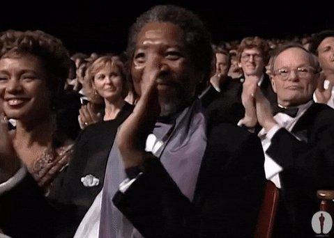 Morgan Freeman Applause GIF by The Academy Awards