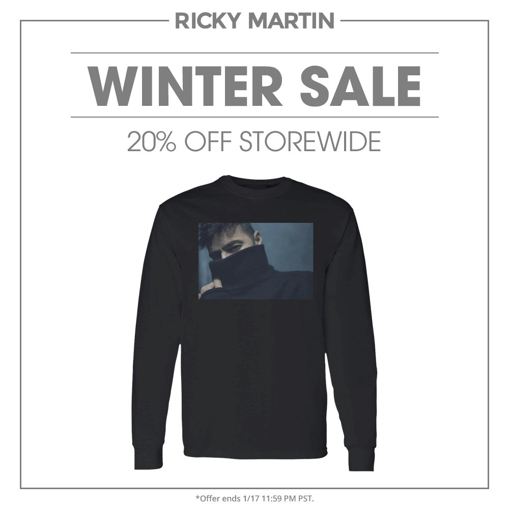 Replying to @ricky_martin: Winter Sale is here!