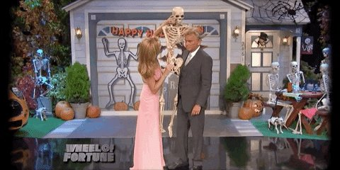 pat sajak halloween GIF by Wheel of Fortune