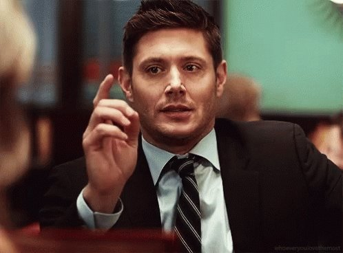 Jensen Ackles Pointing GIF