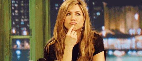 Aniston Thinking GIF