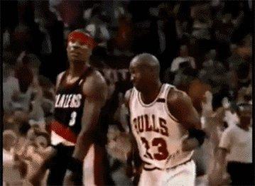 Michael Jordan Shrug GIF by NBA