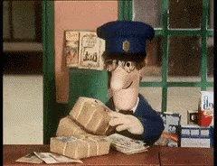 Postman Pat Collecting GIF