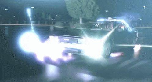 Delorean Back To The Future GIF