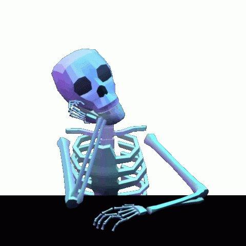 Waiting Skeleton GIF