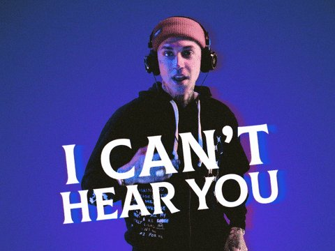 Cant Hear You La La GIF by blackbear