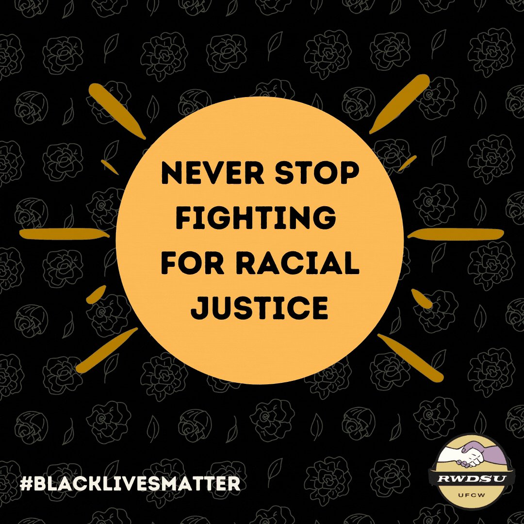 The boss might try to divide us by race, but we know better – economic justice IS racial justice, and we won't stop fighting for racial justice until every member of our union is treated with dignity and respect. #BlackLivesMatter #1u