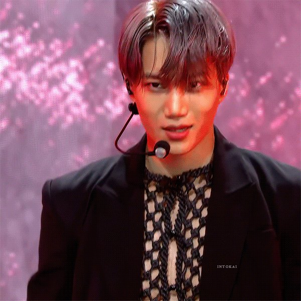 The 1st music show performance  I watched it on my phone on a bench in a mall bc I had to watch it live #MomentsWithKai #Kai #카이 #カイ