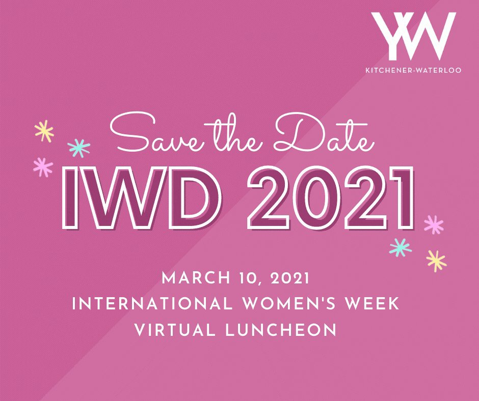 Mark your calendars!   Join us (virtually) on March 10, when we will be celebrating #InternationalWomensDay. Featuring special guest appearances. 🥳  Stay tuned for more details.    #IWD2021 #SaveTheDate