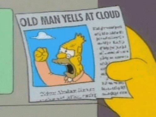 Yelling Cloud GIF