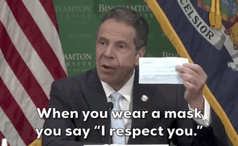 Andrew Cuomo Face Mask GIF by GIPHY News