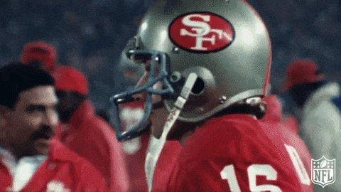 #UnDiaComoHoy en 1990, los #FTTB  de un magnífico e impecable Joe Montana arrollaron a los #RamsHouse clasificándose para la Superbowl XXIV. El partido arrancó 0-3, luego llegó la avalancha de SF... Faltaba solo un triunfo para el cuarto anillo #NFL  @favelamarcela  @luisvjones