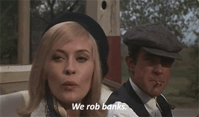 Happy Birthday to Faye Dunaway, here with Warren Beatty in BONNIE AND CLYDE!