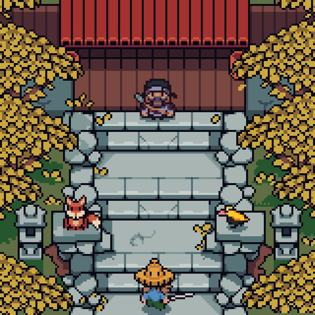 Replying to @WoostarsPixels: A little #GhostOfTsushima in my style  @SuckerPunchProd   #pixelart #gameart