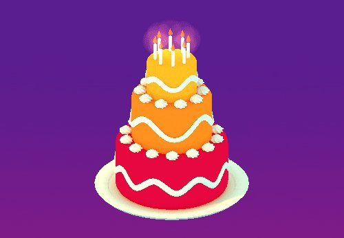 Happy Birthday 3D GIF by Michael Shillingburg