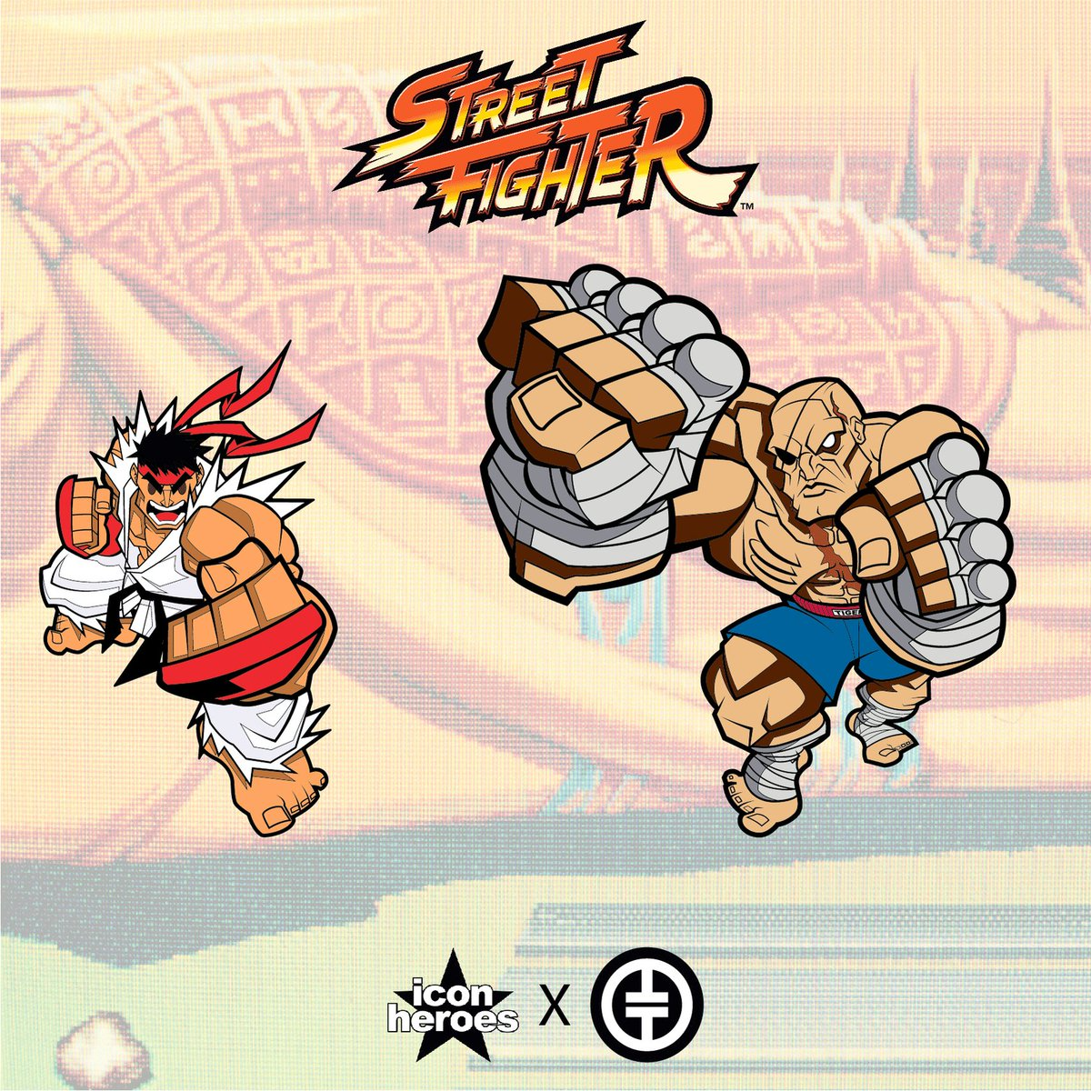 Our friends at @iconheroes present Action Pins - enamel pins with movable features!  Their Street Fighter lineup kicks off with 👊 Ryu and 🐅 Sagat both with movable fists! Each limited edition pin is individually numbered!   📌