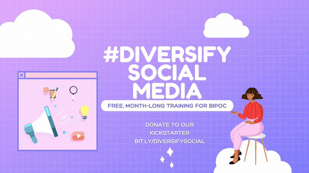 Taking a break from posting jokes to promote #DiversifySocialMedia the org I started with some dope people to provide FREE training classes for people of color looking to change or start a career in social media management. There are two ways two get involved