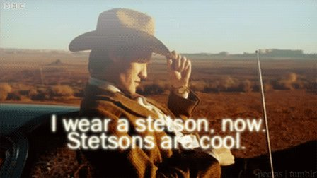Stetsons are cool... #DoctorWho #NationalHatDay