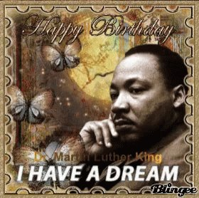 Happy Birthday!!! I only wish we were leaps and bounds from where we are today, but the fight must go on until we are all treated equally!!