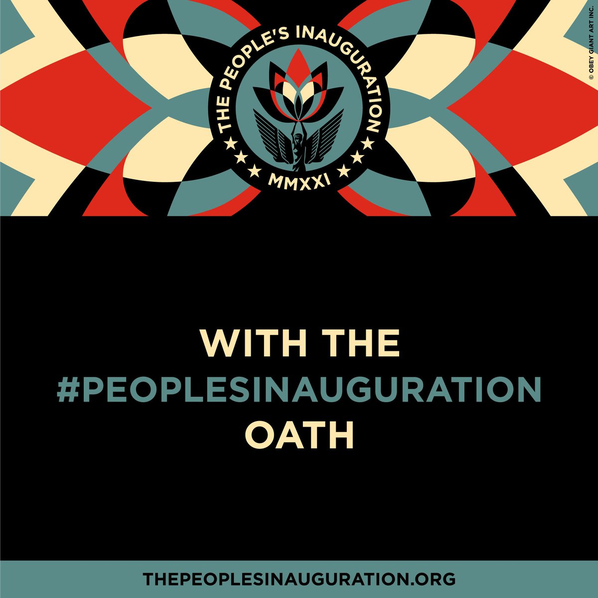 """The #PeoplesInauguration on 1.21 is a way for us to: ➕Commit to transition, renewal + collective healing for this country ➕Create a vision for what we the people want to become  ➕Release what doesn't serve us + start anew   Sign up for updates: Text """"WETHEPEOPLE"""" to 97483"""