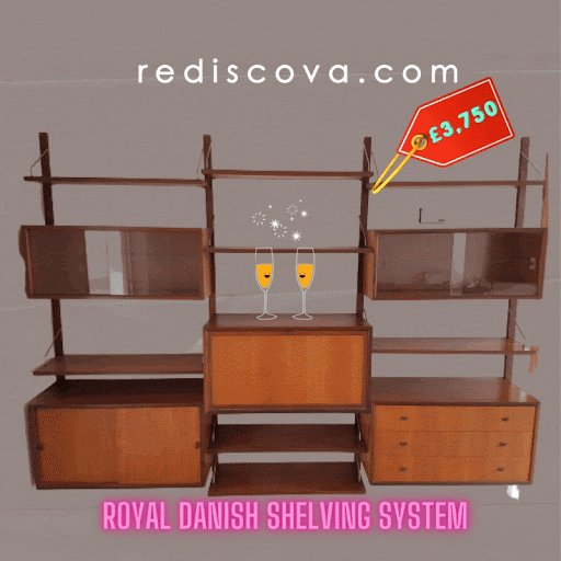 WOW# NewYear new #furniture,#Stylish Danish #vintage #midcentury furniture.This stunning Royal #Danish shelving system is all you need for a room,follow the link for more info