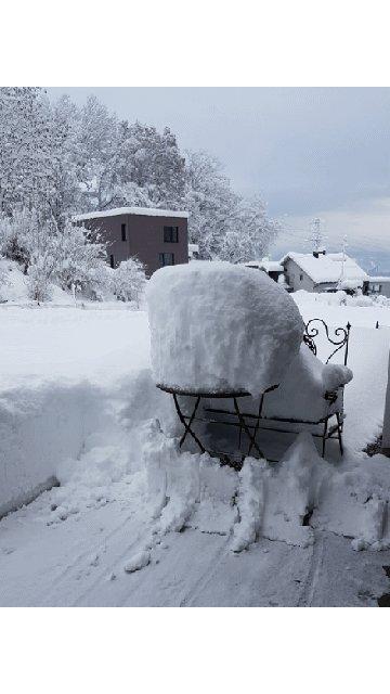A lot of snow. #WINTER #snow  #snowgeddon