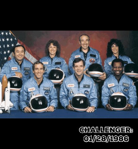 My heart and thoughts today to the families and friends of those lost on #Challenger 35 years today.