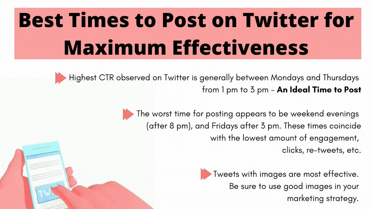 What is the best and worst time to post on Twitter? 🤓  ⚡️Increase your CTR, ⚡️Be more noticeable, ⚡️Get more engaged audience.   Follow @FollowerAudit   #twittermarketing #socialmediamarketing #twittertips #besttimetotweet #onlinemarketing