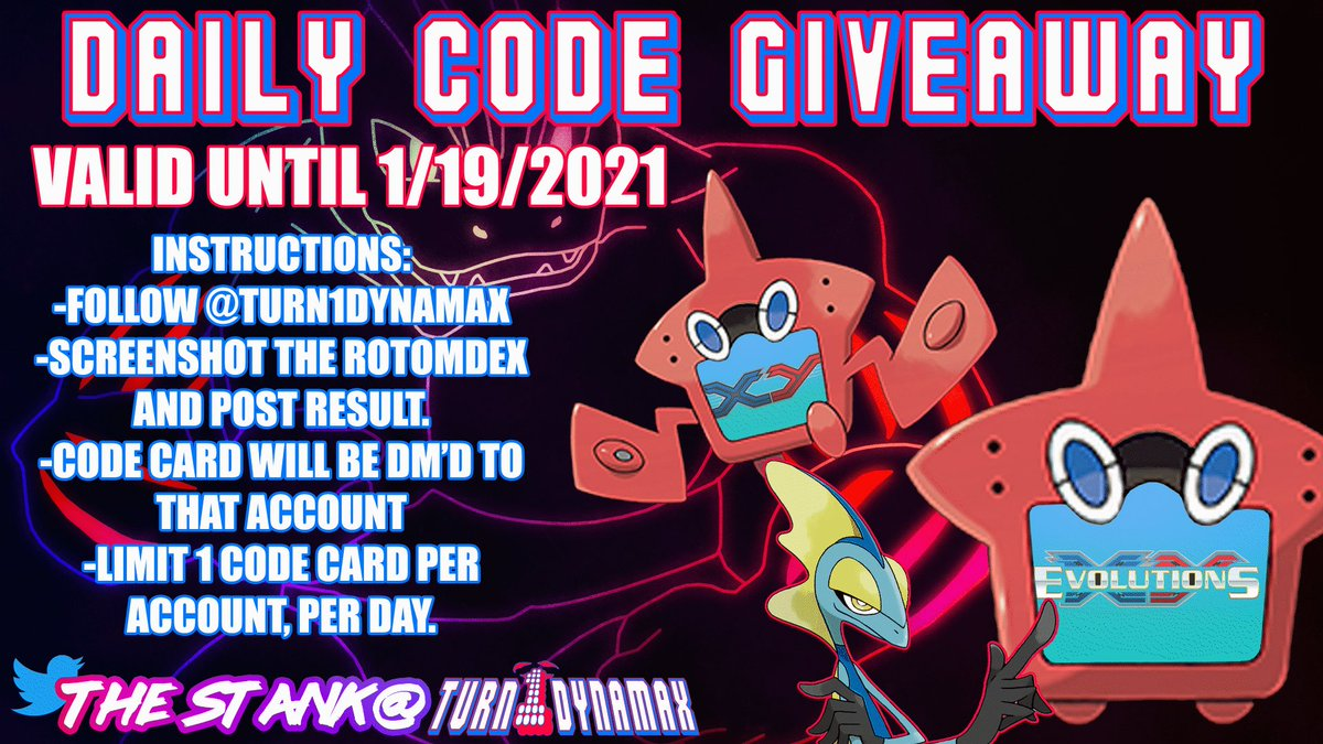 Daily Code Card for 18Jan21 👀👀 peep the instructions below. Follow for daily code card giveaways #PTCGO #Pokemon #PokemonTCG #PokemonCodes #PokemonTCGO #PTCGOcode