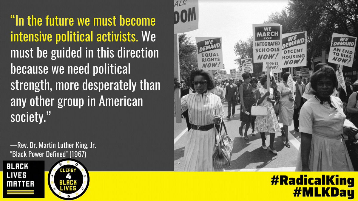 """""""An individual has not started living until he can rise above the narrow confines of his individualistic concerns to the broader concerns of all humanity"""" - Martin Luther King Jr. #RadicalKing #MLKDay"""