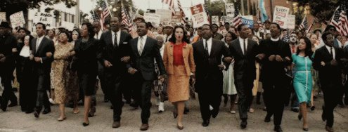 "Just pressed play on @ava's ""Selma."" Her vision, David's interpretation, Bradford's eye, Spencer's choices... this is an exceptional film.   ""Selma it is.""  Don't get me started on the rest of the ensemble: Colman, Tessa, Common, Oprah, Carmen, Lorraine, Tom, and Dylan.   Superb."