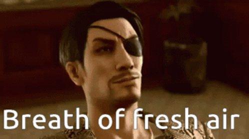 Got one friend playing Yakuza Got one friend playing BotW I love to see it 🙂
