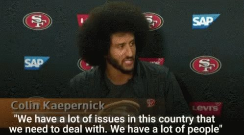 @WajahatAli #StillWithKap @Kaepernick7✊🏾 #TakeAKneeNFL🏈  1st year was tough but I'm good! Sitting out till Kap gets signed or says the future God has for him leads in a direction diff from the @NFL  This is the narrative⬇️ #BlackLivesMatter #BLM  When you hijack it you get 👉🏾#insurrection