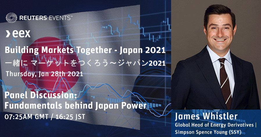 Don't miss hearing about all things Japanese #Power, and what it takes to build a market together in 2021. Joining our COO, Richard Everett on 28 Jan, register here https://t.co/7fMKbX0dAl #BuildingMarketsTogether