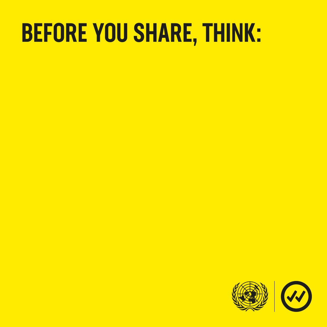 Misinformation is like a virus. We all have our part to play in stopping its spread. Pause, #TakeCareBeforeYouShare, and join the global movement: