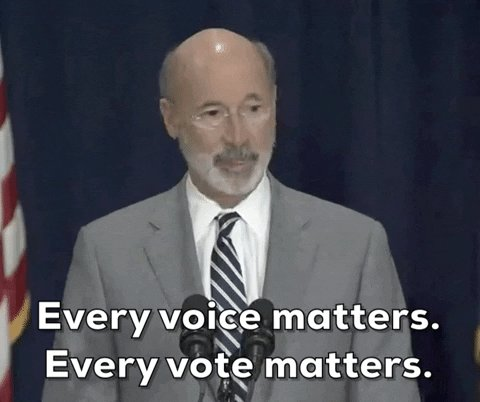 Yes, our voice matters and you don't  give two shits about what's going on in PA. I think we should impeach his ass next!! Tom Wolf for #impeachment