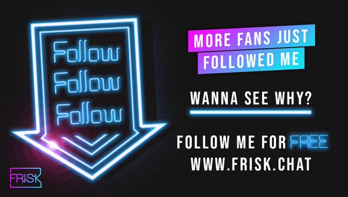 Woo, more free followers! Check out my profile and see my @friskvip free wall on https://t.co/7xXPvLxqXw