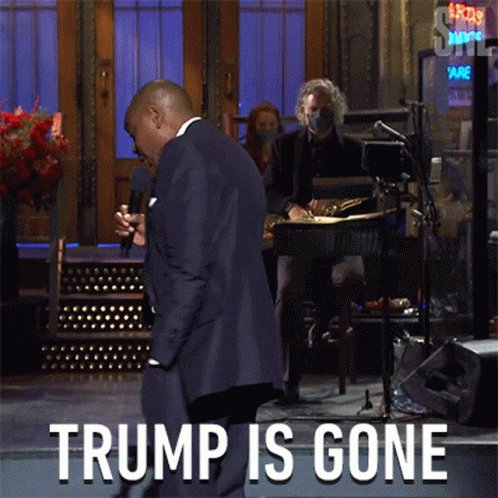 #GoodbyeDonnie ding dong  trump is GONE!!