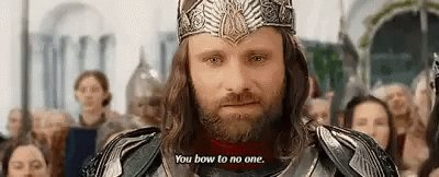 I feel like the emotions of today & what is to come can only be described by that scene in Return Of The King when the Hobbits bow to Aragorn...😭😭😭 #thedayisfinallyhere #gethimout #InaugurationDay2021