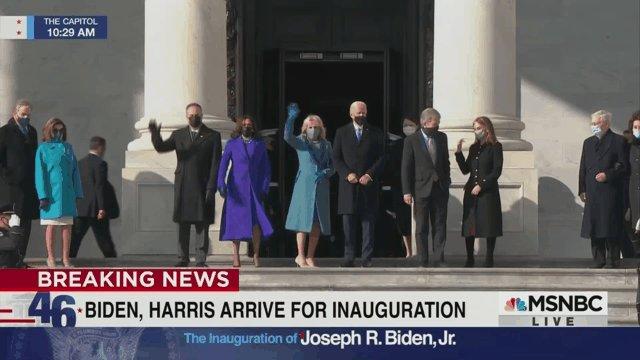 "Replying to @enews: ""Hi, America. We made it."" —Joe Biden & Kamala Harris this morning, probably. #InaugurationDay"