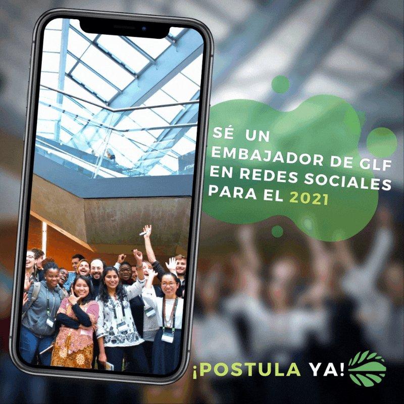📢 ¡Último día para postular!  ⭐️ Conviértete en embajador de redes sociales del GLF para #Latinoamerica, ayúdanos a difundir el mensaje y aprende siendo parte de una gran red juvenil presente en todo el🌎.   Conoce más ➡️   #generationrestoration