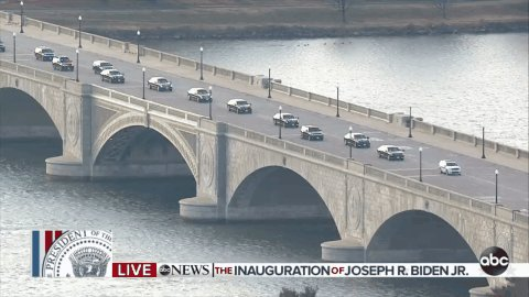 NOW: President Biden en route to the White House.  #InaugurationDay