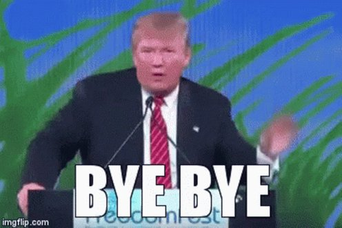 Best GIF to this special day #ByeDon #InaugurationDay #Bitcoin
