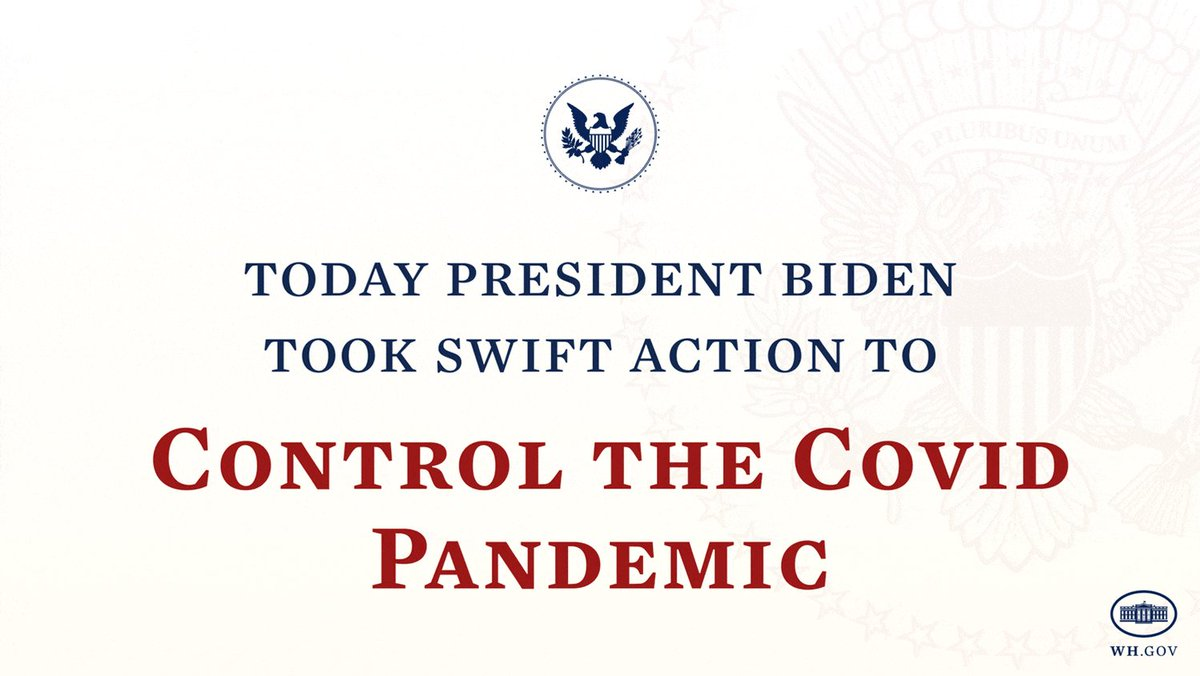 We are currently facing four converging crises — COVID-19, the resulting economic crisis, climate change, and racial inequity. Today, President Biden took actions to combat these challenges.