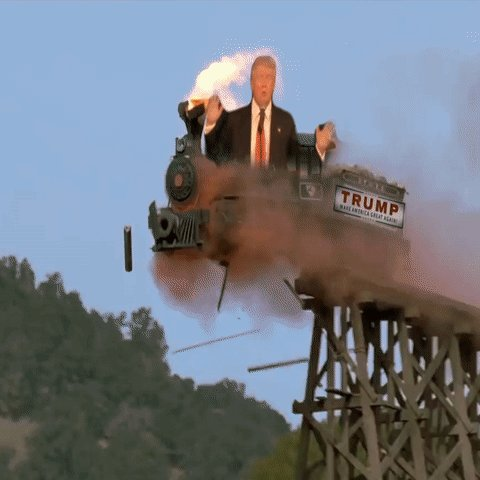 #ThingsImGonnaMissAboutTrump be like a train and burn up