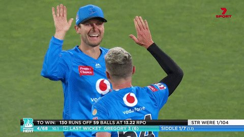 Peter Siddle's on a hat trick!  (And it's not even his birthday!)  #BBL10
