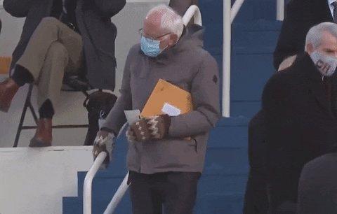 Adult mittens are silly 😂 #Bernie #thursdaymorning #Mittens #FeelTheBern 🔥