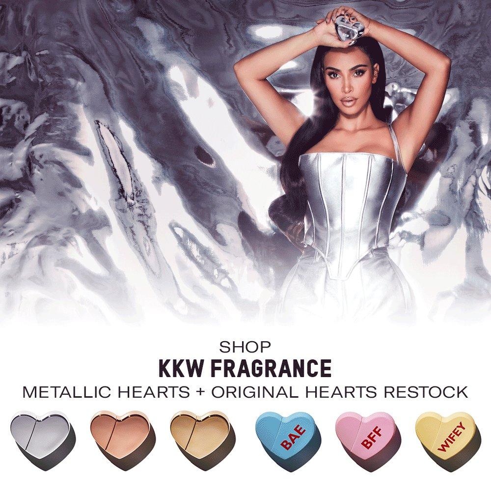 Replying to @KKWMAFIA: Shop @KKWFRAGRANCE Metallic Hearts + Original Hearts Restock now at